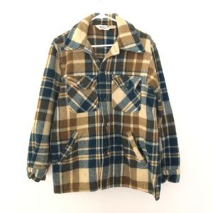 VINTAGE Woolrich Large Plaid Wool Blend Shirt